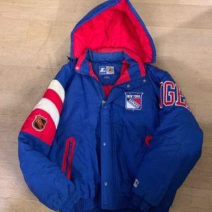 Vintage 80s Starter Jacket NHL New York Rangers